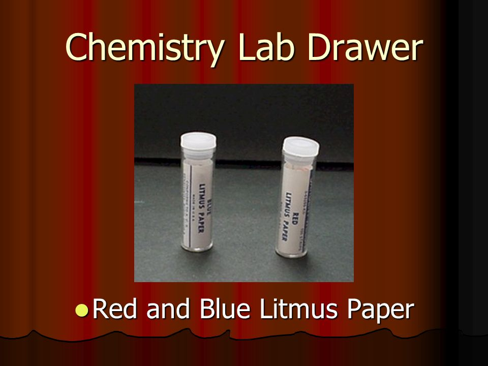 Red and Blue Litmus Paper