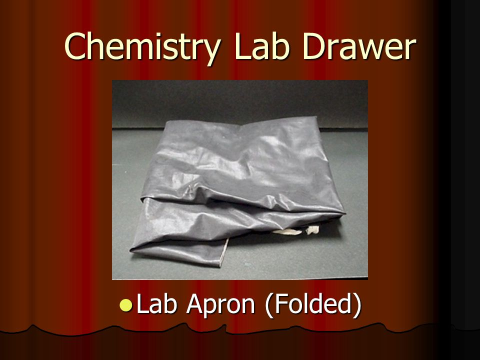 Chemistry Lab Drawer Lab Apron (Folded)