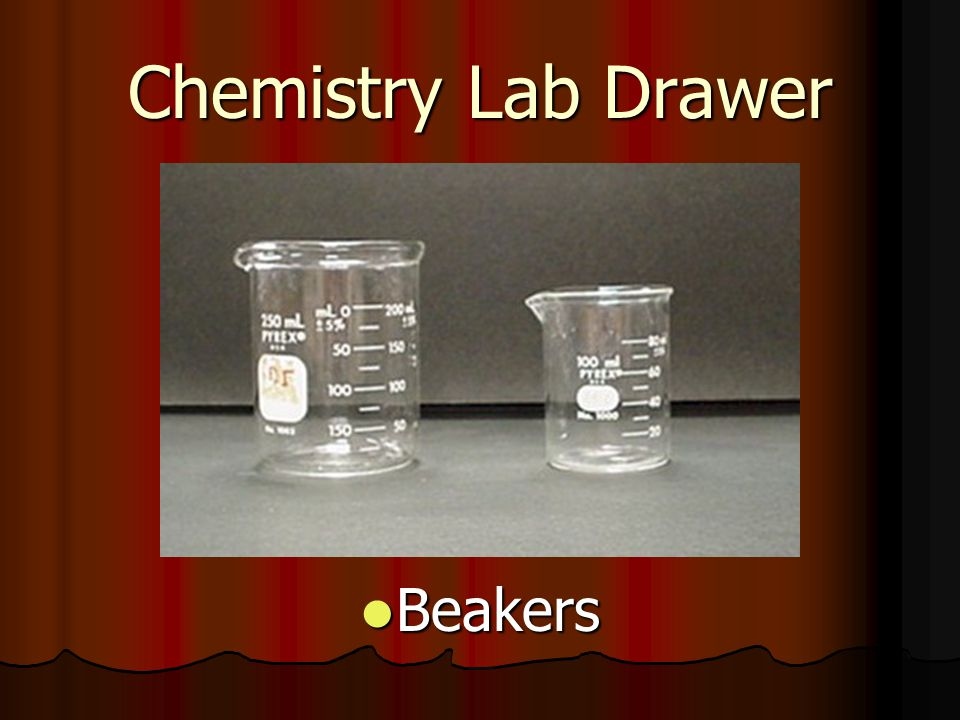 Chemistry Lab Drawer Beakers