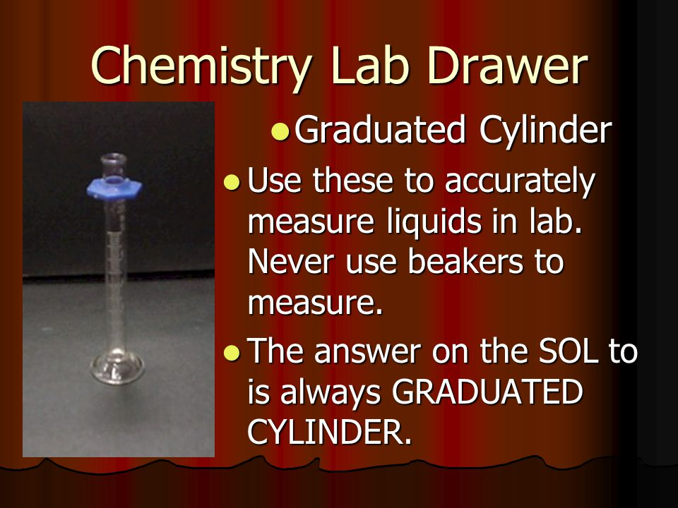 Chemistry Lab Drawer Graduated Cylinder