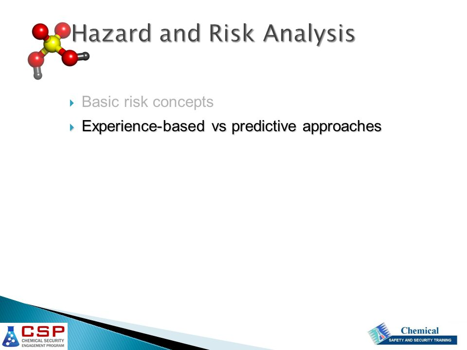 Hazard and Risk Analysis
