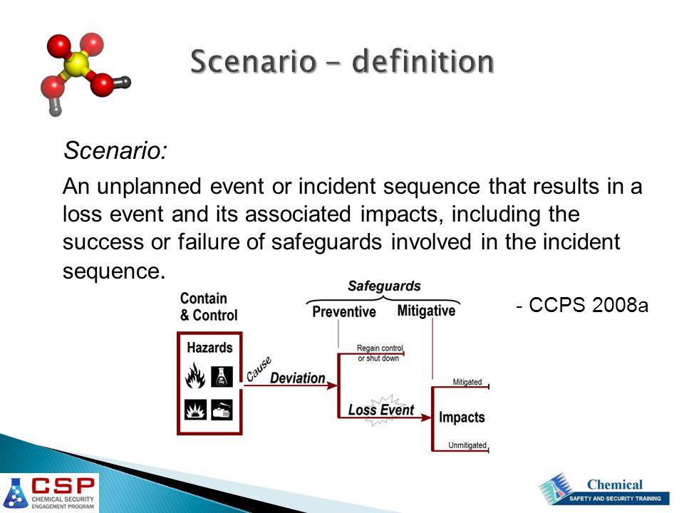 Scenario - definition Scenario: