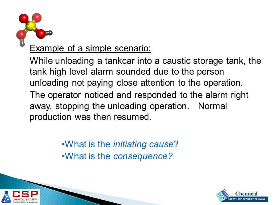 Example of a simple scenario: