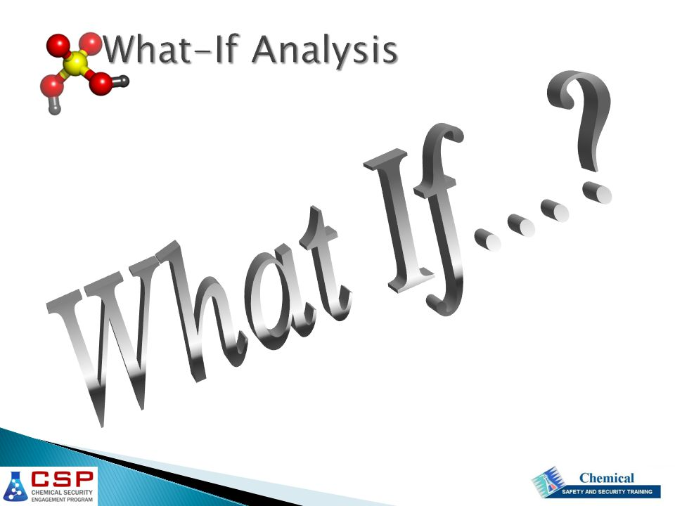 What-If Analysis What If...