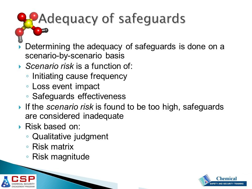 Adequacy of safeguards