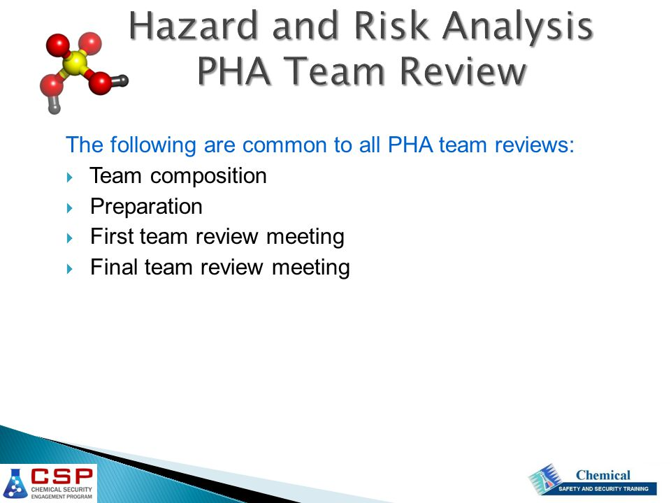 Hazard and Risk Analysis PHA Team Review