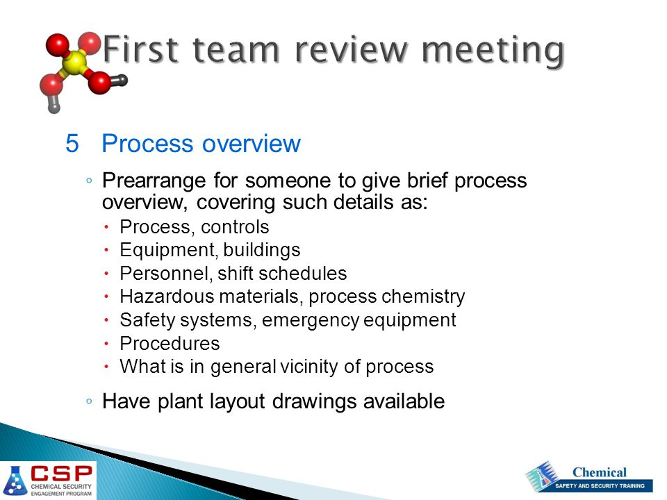 First team review meeting