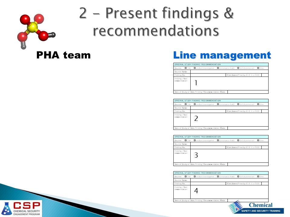 2 - Present findings & recommendations