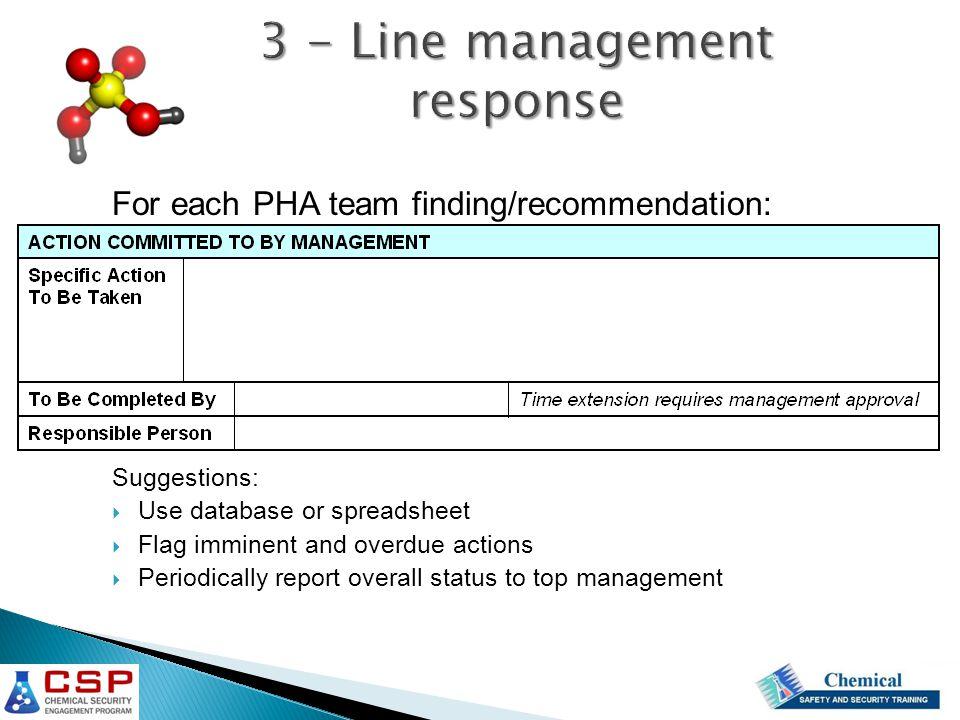 3 - Line management response