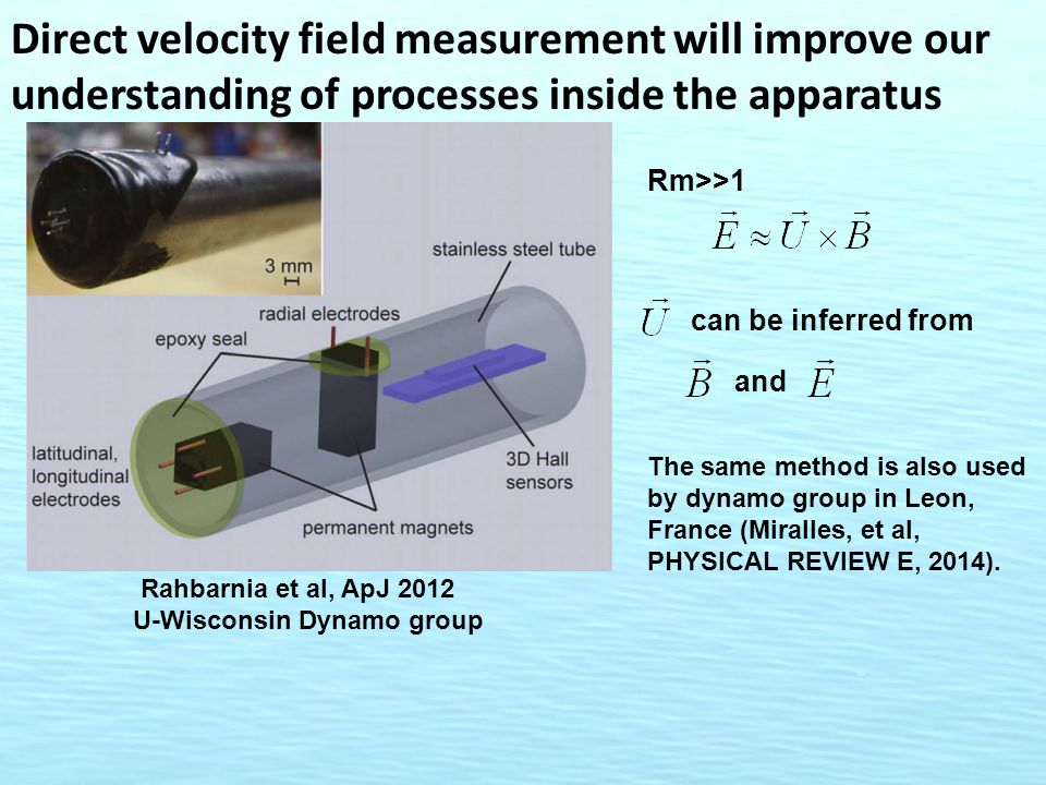Direct velocity field measurement will improve our understanding of processes inside the apparatus