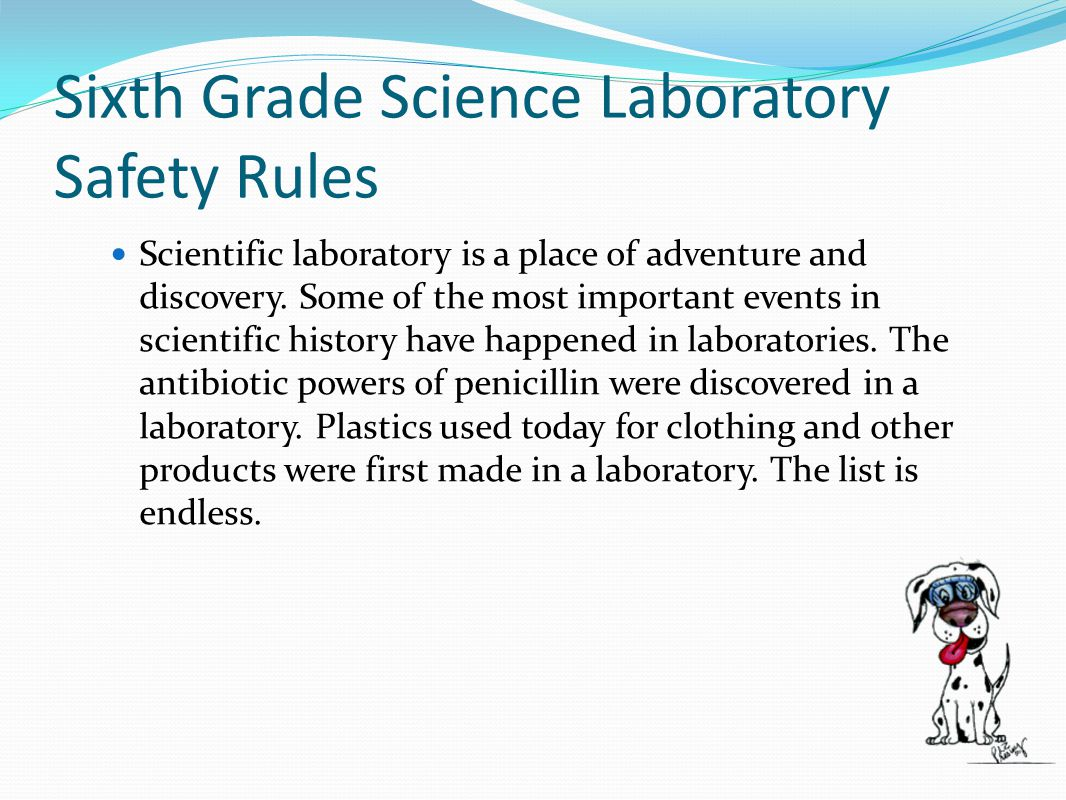Sixth Grade Science Laboratory Safety Rules