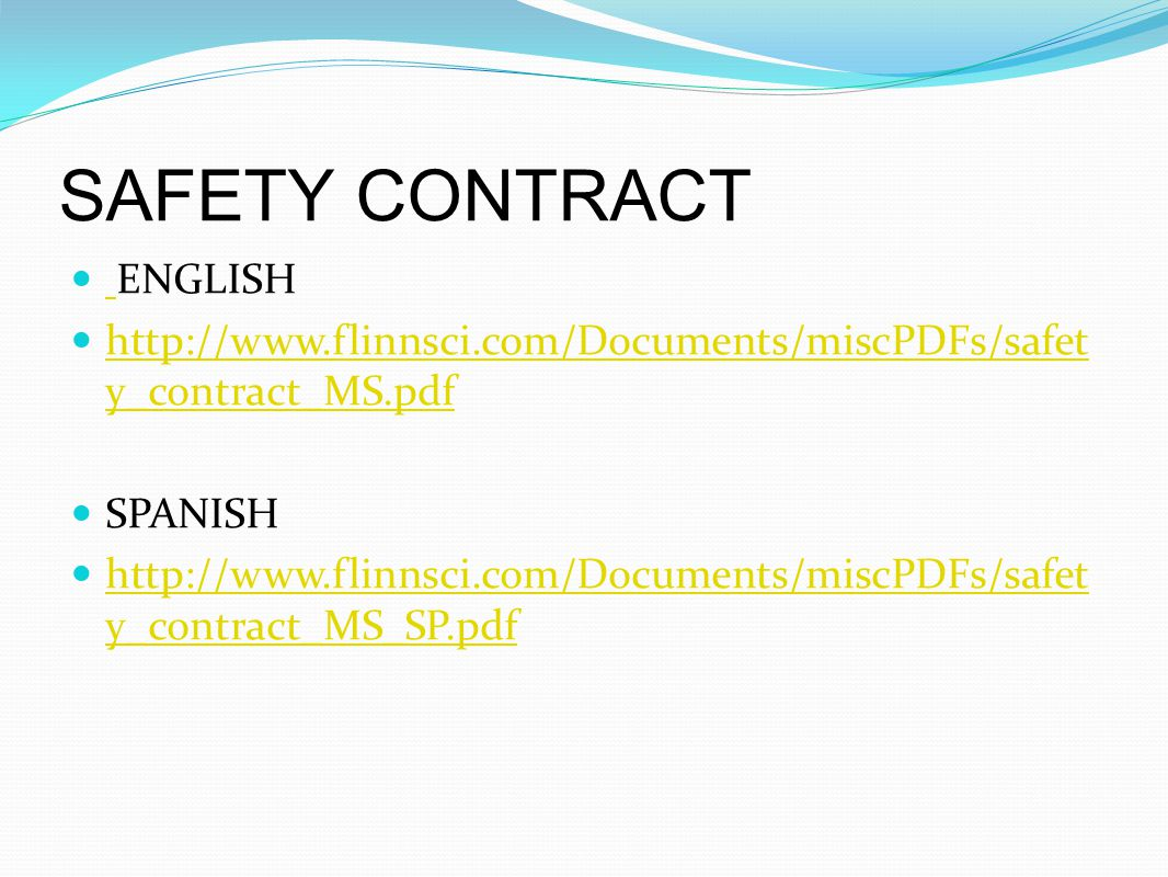 SAFETY CONTRACT ENGLISH