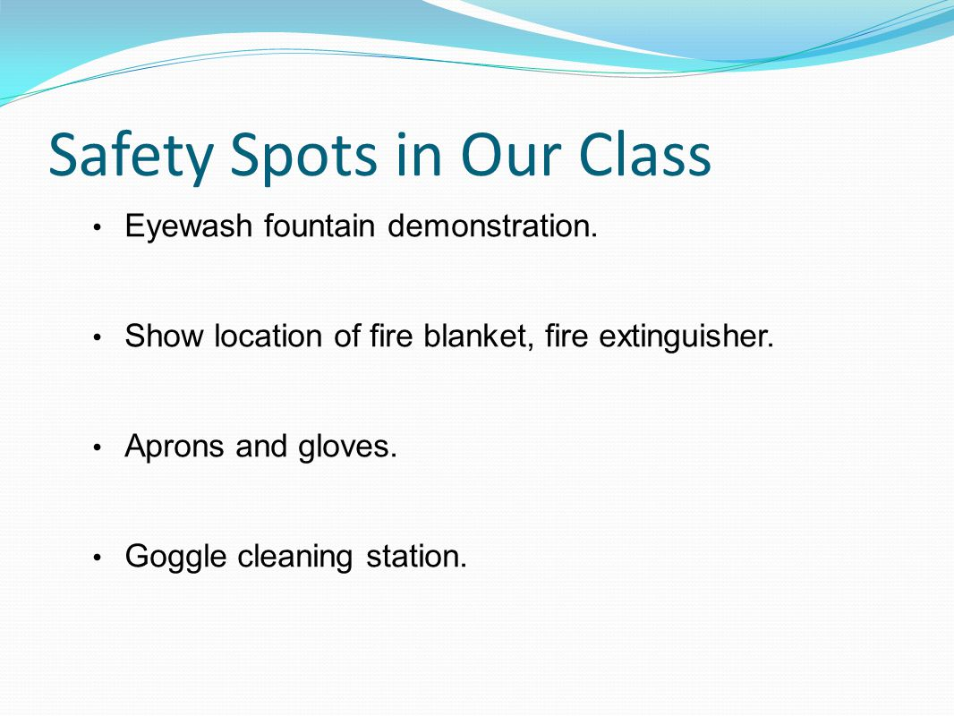 Safety Spots in Our Class