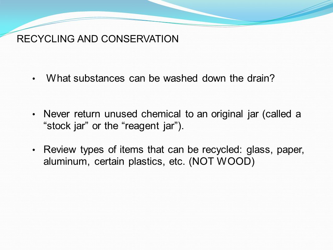 RECYCLING AND CONSERVATION