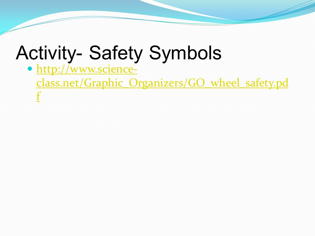 Activity- Safety Symbols