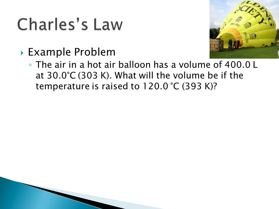 Charles's Law Example Problem