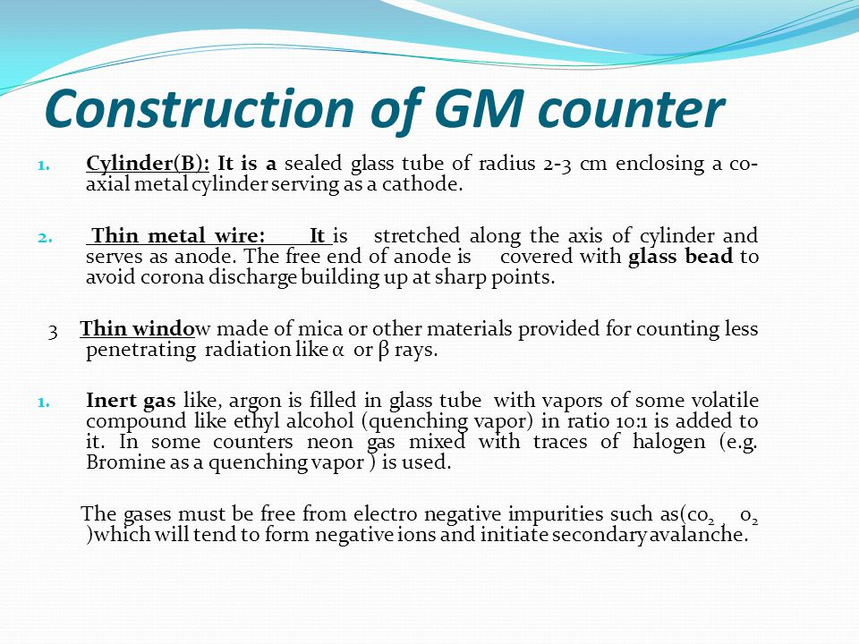 Construction of GM counter