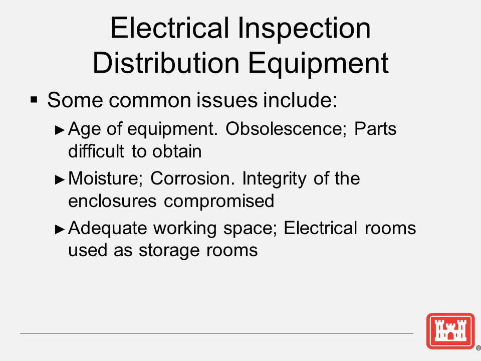 Electrical Inspection Distribution Equipment