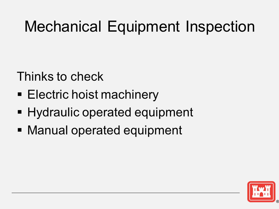 Mechanical Equipment Inspection