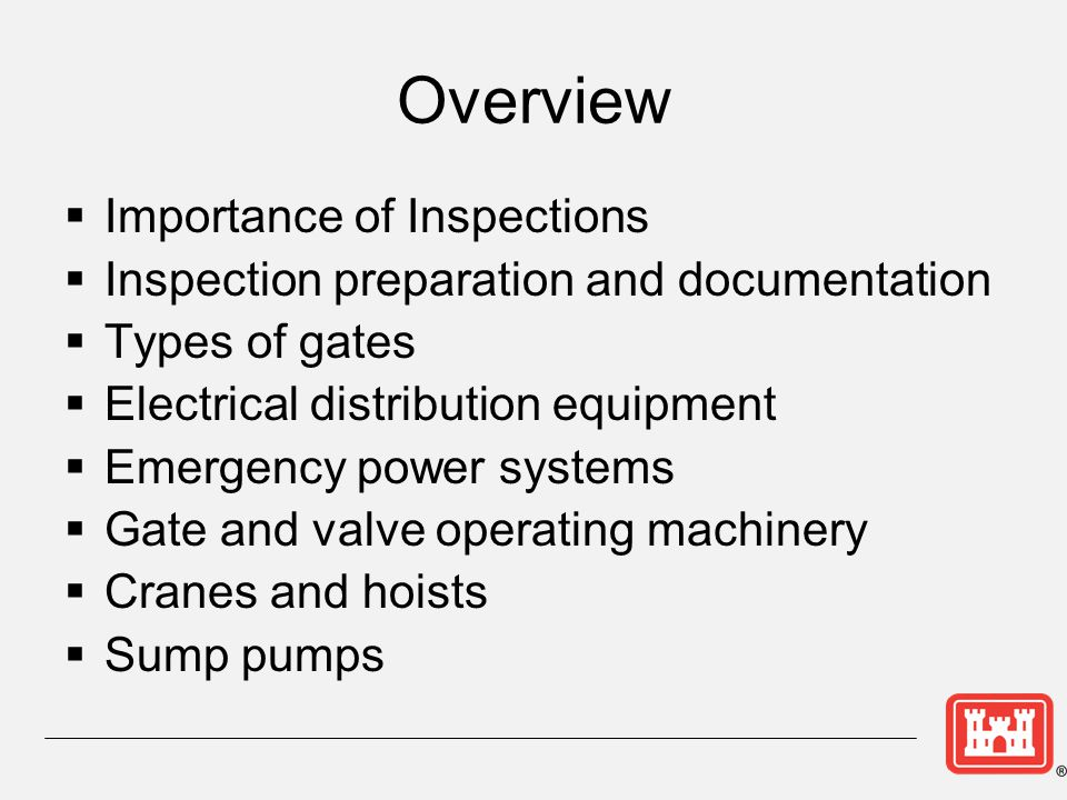 Overview Importance of Inspections