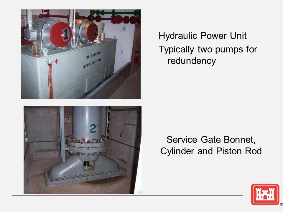 Service Gate Bonnet, Cylinder and Piston Rod
