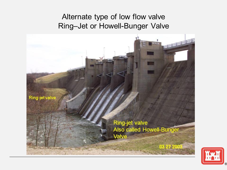 Alternate type of low flow valve Ring–Jet or Howell-Bunger Valve
