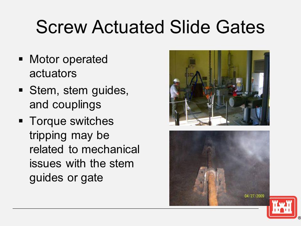 Screw Actuated Slide Gates