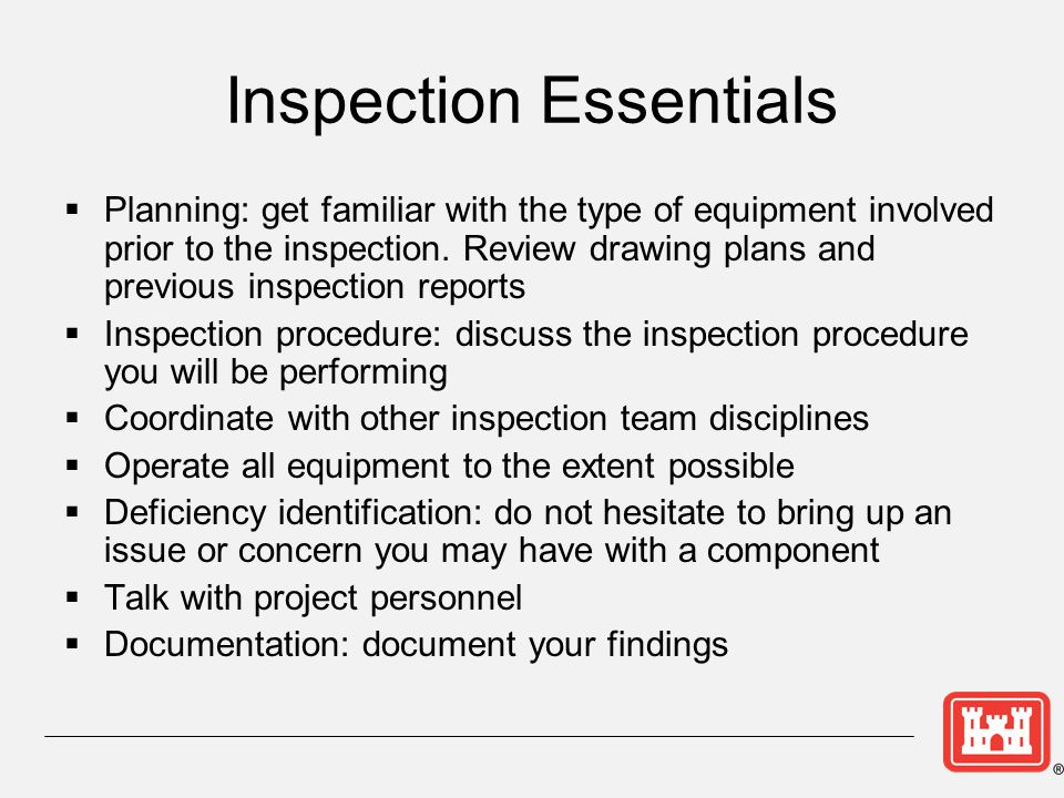 Inspection Essentials