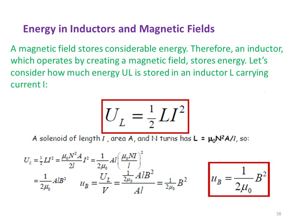 Energy in Inductors and Magnetic Fields