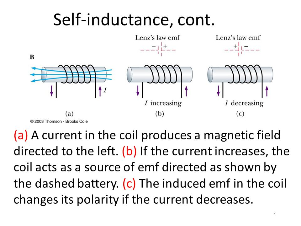 Self-inductance, cont.