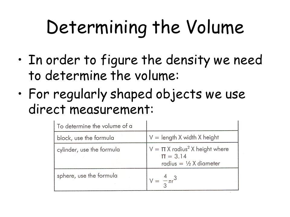 Determining the Volume