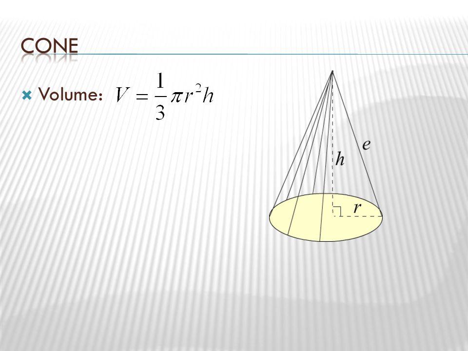 Cone Volume: