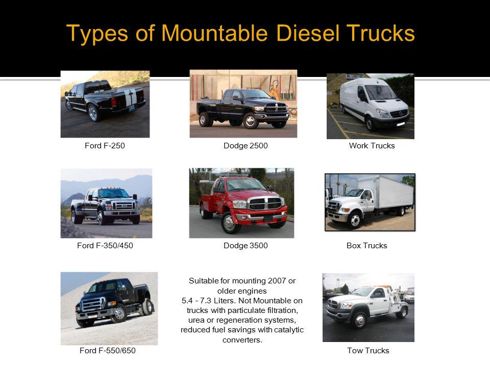 Types of Mountable Diesel Trucks