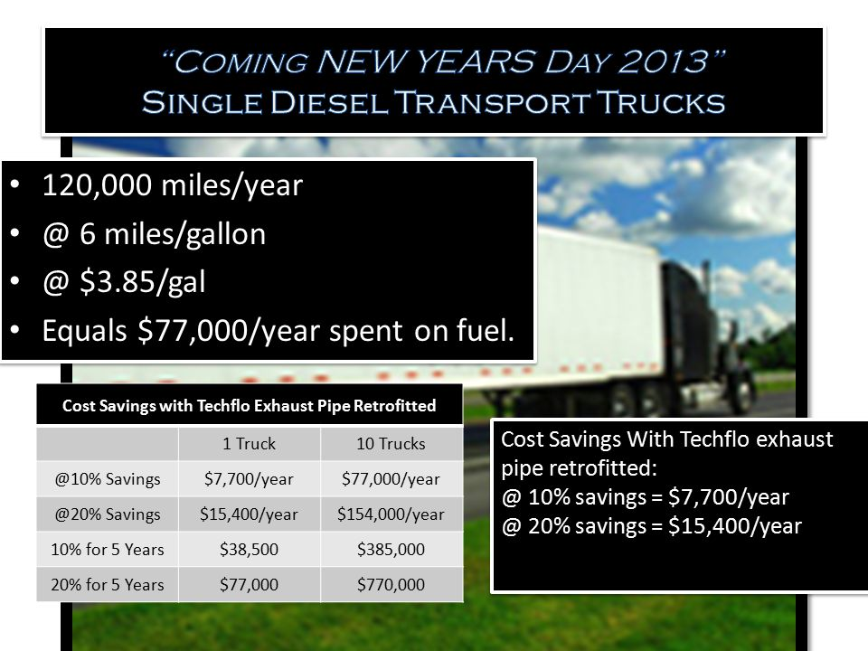 Coming NEW YEARS Day 2013 Single Diesel Transport Trucks
