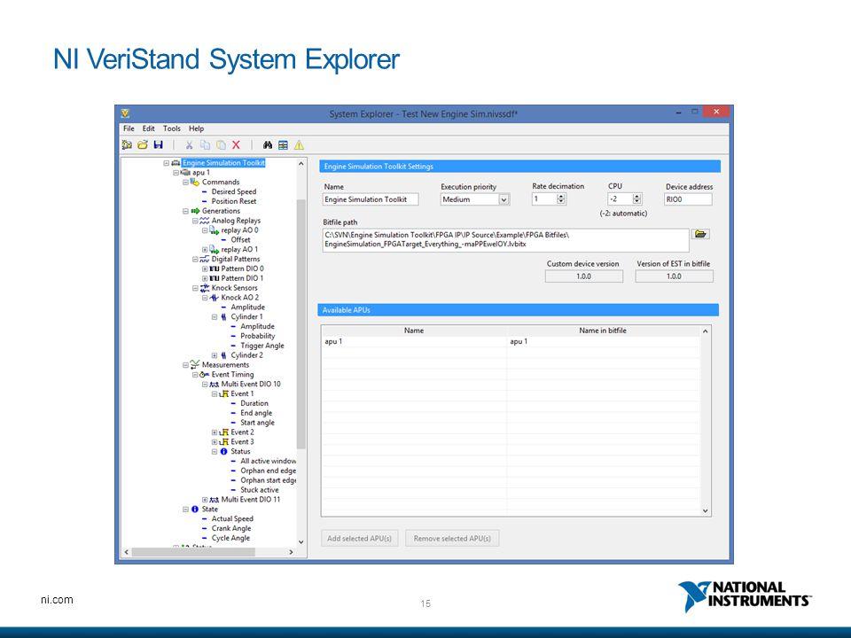 NI VeriStand System Explorer