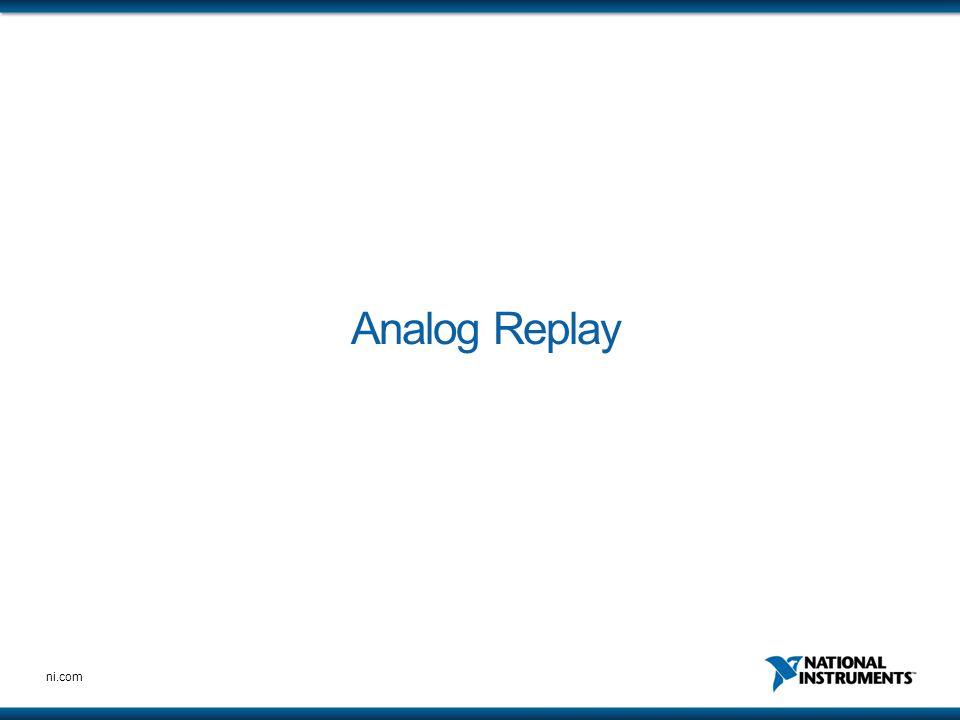 Analog Replay