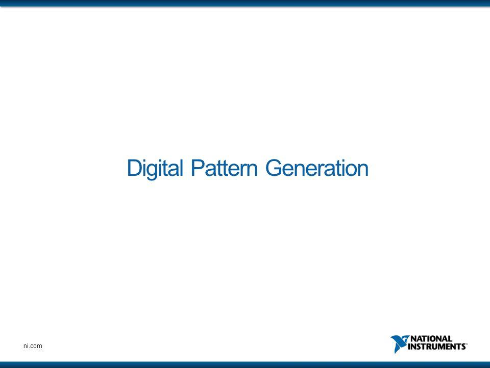 Digital Pattern Generation