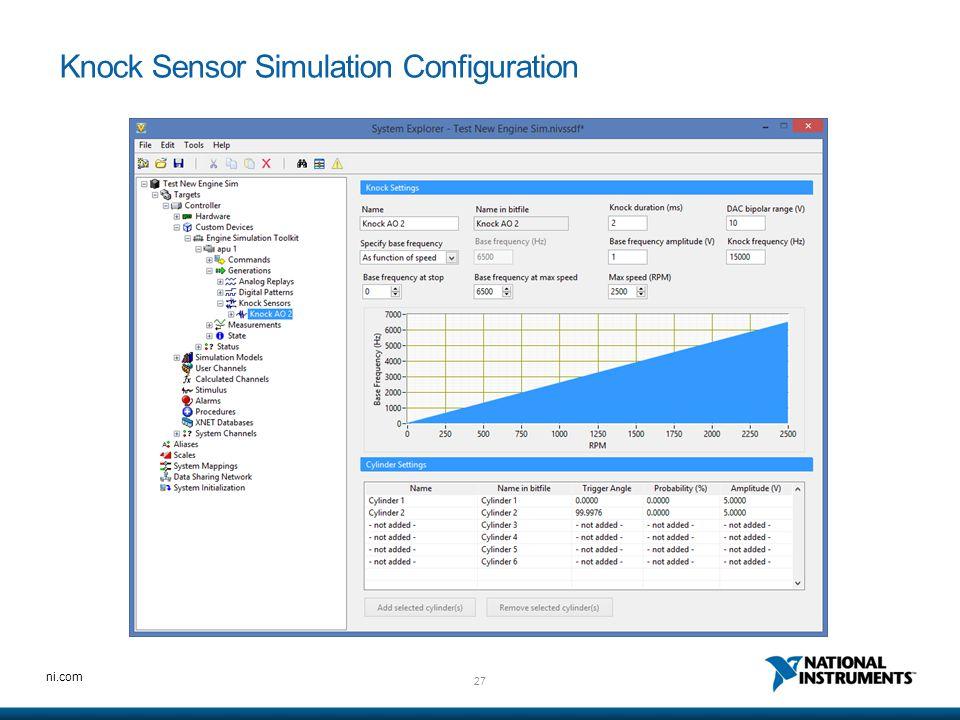 Knock Sensor Simulation Configuration