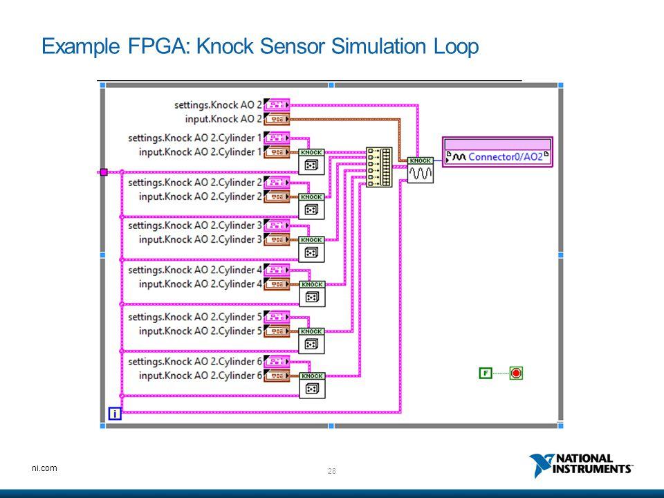 Example FPGA: Knock Sensor Simulation Loop