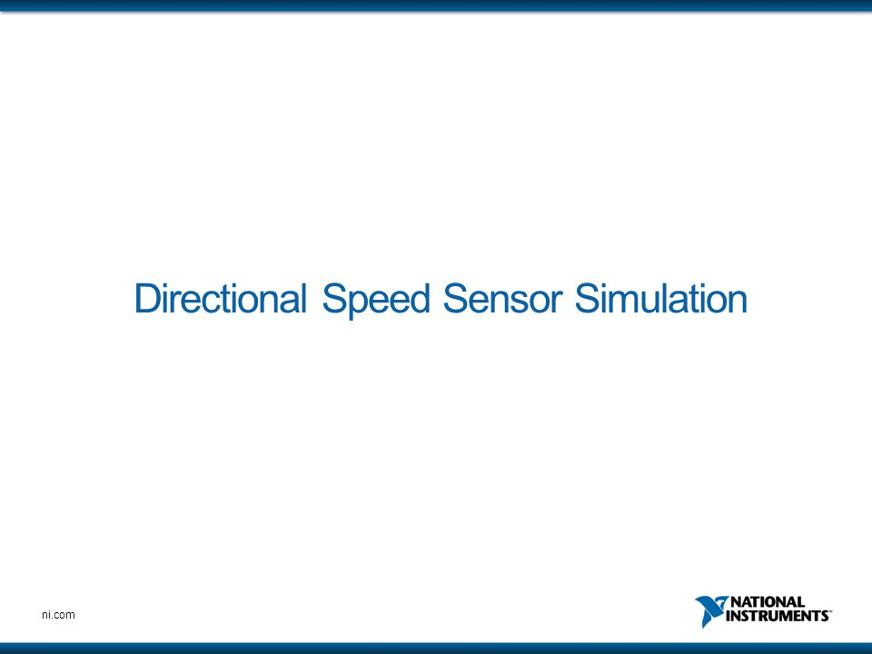 Directional Speed Sensor Simulation