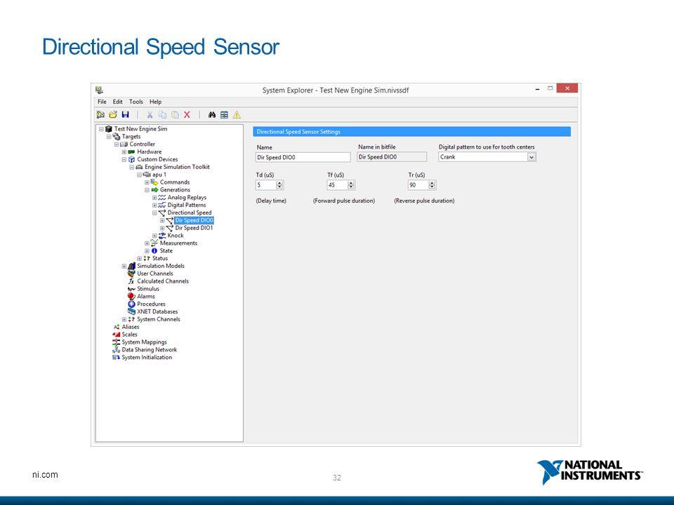 Directional Speed Sensor