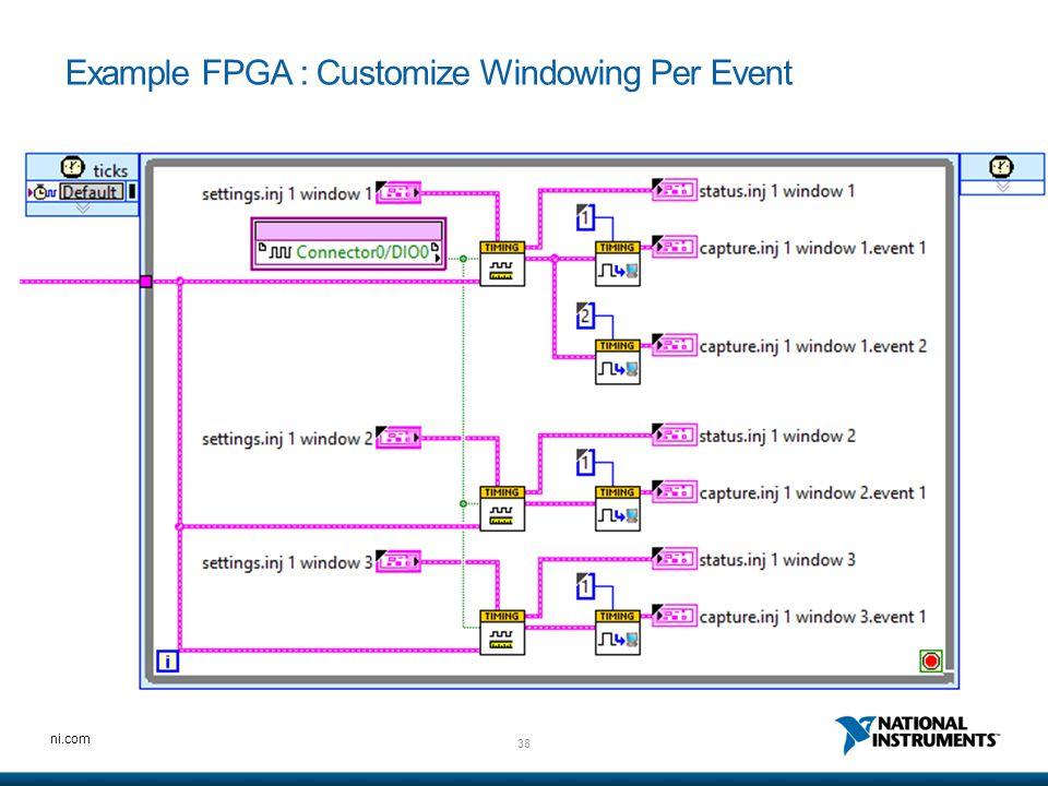 Example FPGA : Customize Windowing Per Event