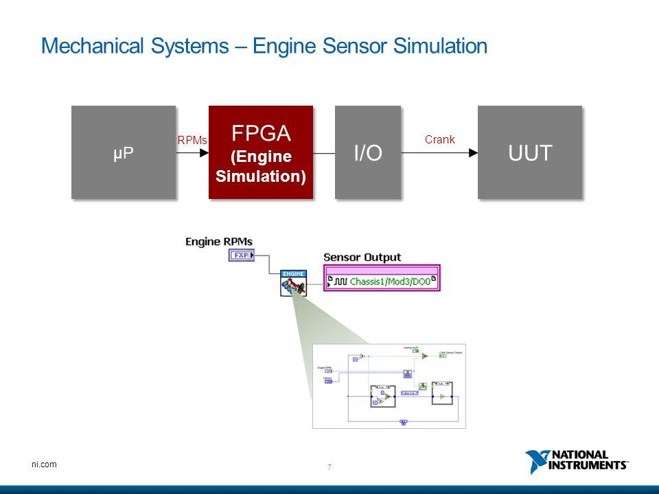 Mechanical Systems – Engine Sensor Simulation