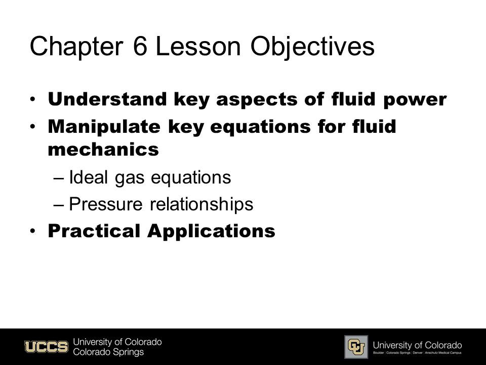 Chapter 6 Lesson Objectives