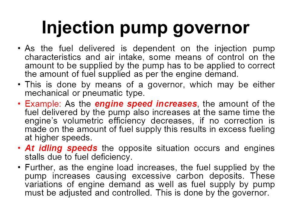 Injection pump governor