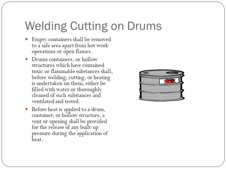 Welding Cutting on Drums