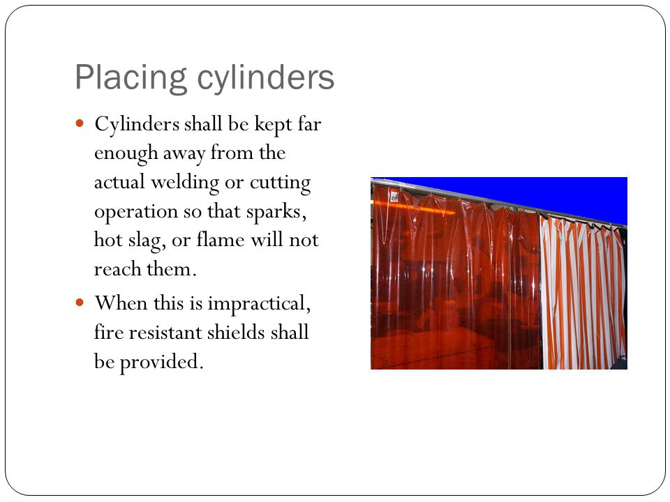 Placing cylinders