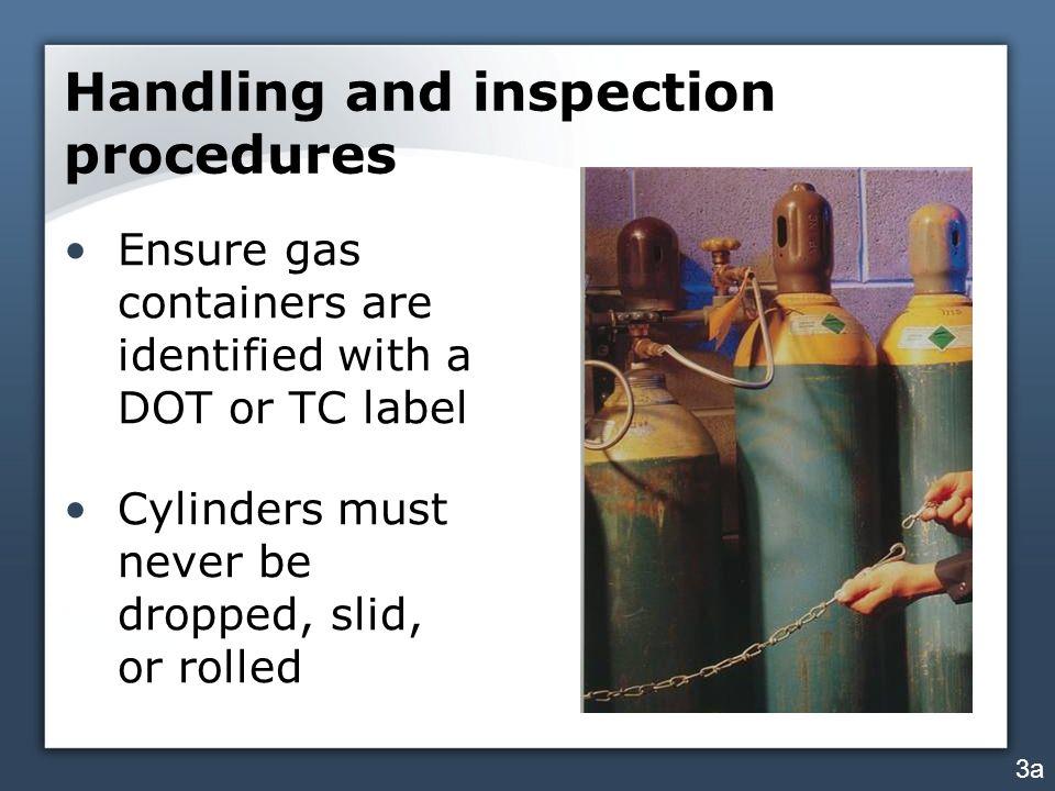 Handling and inspection procedures