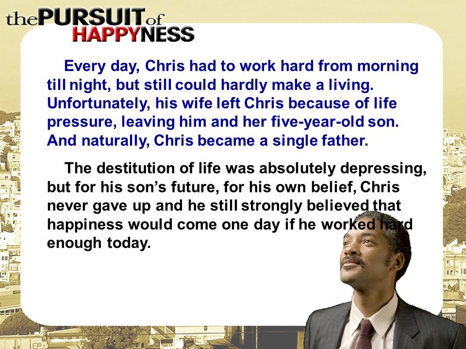 Every day, Chris had to work hard from morning till night, but still could hardly make a living. Unfortunately, his wife left Chris because of life pressure, leaving him and her five-year-old son. And naturally, Chris became a single father.