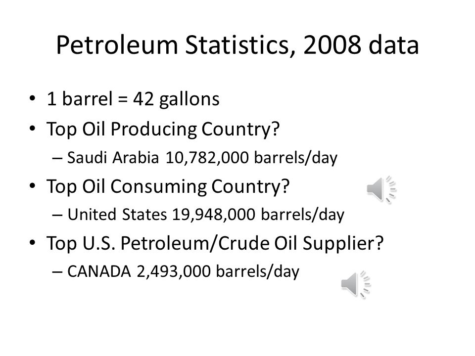 Petroleum Statistics, 2008 data